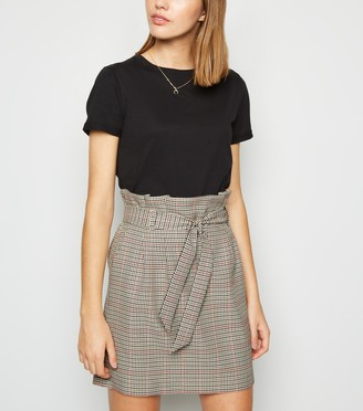 New Look Check High Waist Mini Skirt