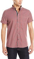 Kenneth Cole Reaction Men's Short Sleeve Check Shirt