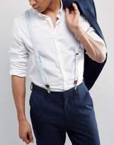 Asos Wedding Suspenders In Blue