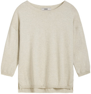 Zenggi Ecru Cotton Crew Top - l