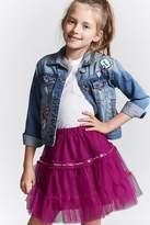 FOREVER 21 girls Girls Sheer Mesh Skirt (Kids)