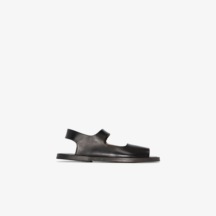 Marsèll Black sandello leather sandals