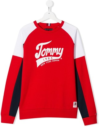 Tommy Hilfiger Junior TEEN colour block logo sweatshirt