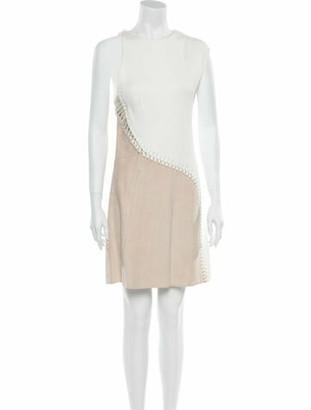 3.1 Phillip Lim Lamb Leather Knee-Length Dress w/ Tags