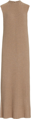 LOULOU STUDIO Andrott Button-Detailed Ribbed Wool-Cashmere Maxi Dress
