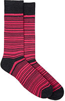 Barneys New York MEN'S STRIPED & DOTTED MID-CALF SOCKS
