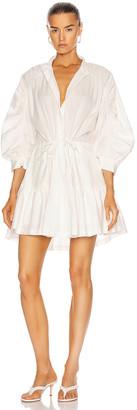 Frame Ruched Sleeve Dress in Blanc | FWRD