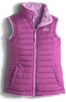 The North Face Girl's 'Mossbud Swirl' Reversible Water Repellent Vest