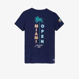 Lacoste Women's SPORT Miami Open Palm Tree Print T-shirt