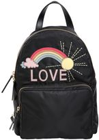 RED Valentino Rainbow Love Patch Backpack