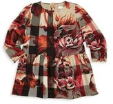 Burberry Baby's & Toddler Girl's Mini Tais Peony Rose-Print Check Cotton Dress