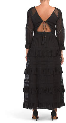 Papillon Tiered Lace Maxi Dress