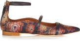 Malone Souliers Robyn point-toe jacquard flats