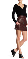 French Connection Faux Leather Zip Skirt