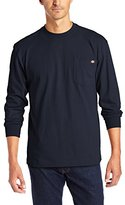 Dickies Men's Big & Tall Long-Sleeve Heavyweight Crew-Neck T-Shirt