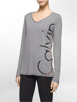 Calvin Klein Performance V-Neck Logo Top