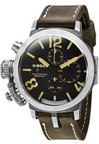 U-Boat Classico 48 Men's Automatic Watch with Black Dial Chronograph Display and Brown Leather Strap 7453.0