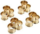 DII Napkin Rings for Dinners, Parties, Everyday, for Dinners, Parties, Everyday, Set of 12, Hammered Gold