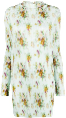 Frankie Morello Floral Print Pleated Dress