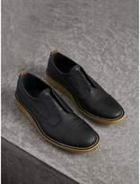 Burberry Raised Toe-cap Leather Brogues , Size: 40, Black