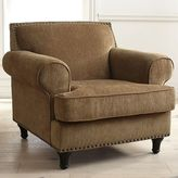 Pier 1 Imports Carmen Toasted Pecan Brown Chenille Armchair