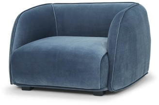 Calibre Furniture Oxford Armchair Dust Blue Velvet