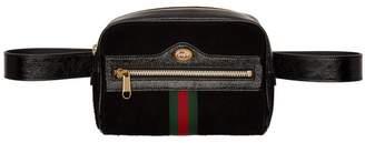 Gucci Black Suede Ophidia Belt Bag