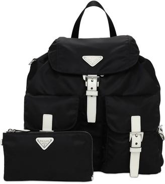 Prada Lvr Exclusive Nylon Canvas Backpack