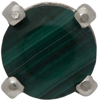 WWW.WILLSHOTT Silver Single Malachite Earring