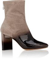 Maison Margiela Women's Asymmetric-Heel Ombré Suede Ankle Boots