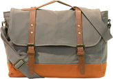Asstd National Brand Two-Tone Canvas Messenger Bag