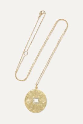 Brooke Gregson Mandala Hera 18-karat Gold Diamond Necklace