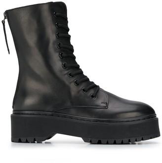 P.A.R.O.S.H. Lace-Up Platform Boots