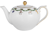 Royal Copenhagen Star Fluted Christmas Tea Pot