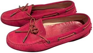 Tod's Gommino Pink Suede Flats