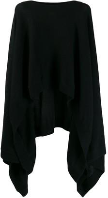 Le Kasha Viennes asymmetric cape-jumper