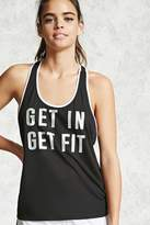 Forever 21 Active Get In Get Fit Tank
