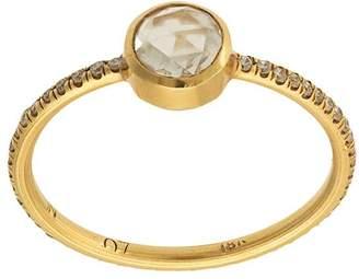 Irene Neuwirth 18kt yellow gold cut diamond stacking ring