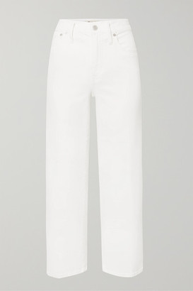 Madewell Cropped High-rise Wide-leg Jeans - White