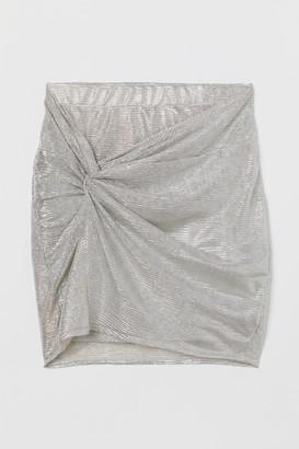 H&M Shimmering metallic skirt