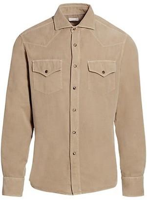 Brunello Cucinelli Corduroy Western Shirt