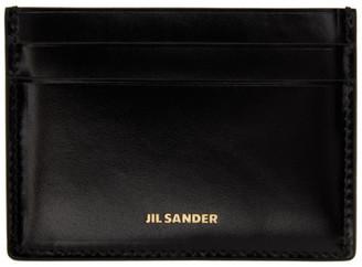 Jil Sander Black Credit Card Holder