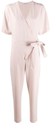 P.A.R.O.S.H. V-neck tie waist jumpsuit
