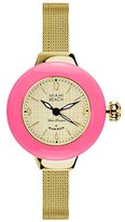 Glam Rock Miami Beach Art Deco collection MBD27187 36mm Stainless Steel Case Gold Plated Stainless Steel Mineral Women's Watch