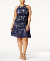 Alfani Plus Size Lace Halter Dress, Created for Macy's