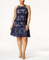 Alfani Plus Size Lace Halter Dress, Only at Macy's