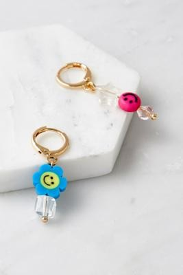 Urban Outfitters Asymmetrical Bead Drop Earrings - Assorted ALL at