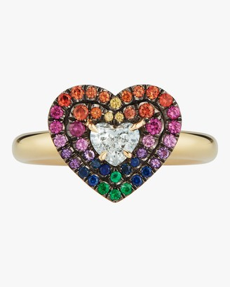 Jemma Wynne Yellow Gold Pave Diamond Heart Ring