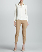 The Row Fitted Button-Up Georgette Blouse