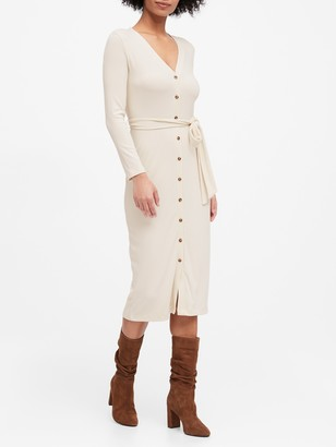 Banana Republic Ribbed Button-Down Dress